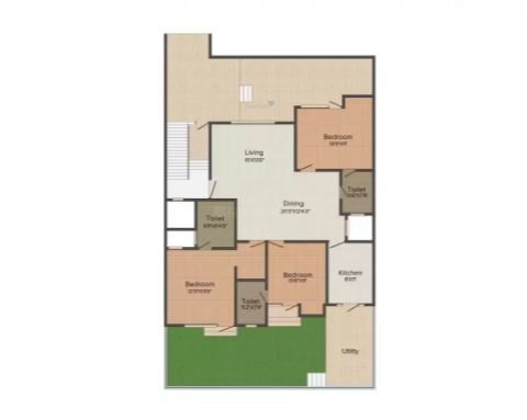 Xperiovation M 119 (3BHK+3T (2,475 sq ft) Apartment 2475 sq ft)