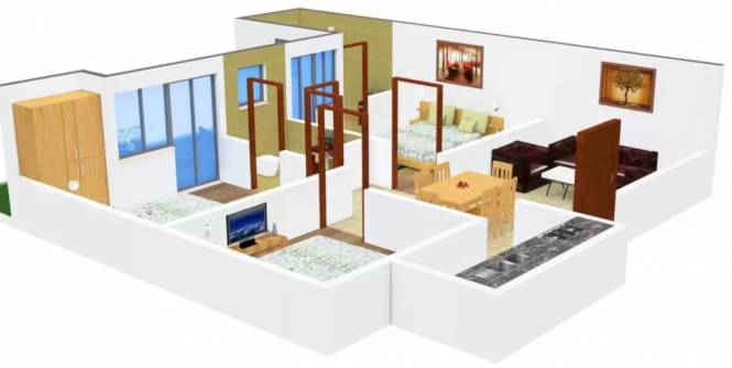 Arora Heights Homes 4 (3BHK+3T (1,980 sq ft) Apartment 1980 sq ft)