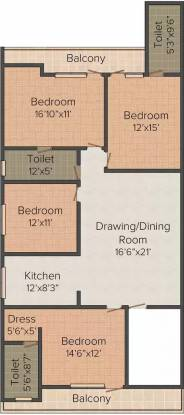 Arora Heights Homes 5 (4BHK+4T (2,250 sq ft) Apartment 2250 sq ft)