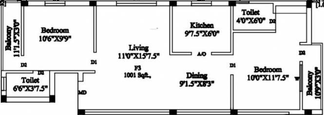Sree Vetrivelavaa Sree Vetrivelavaa (2BHK+2T (1,001 sq ft) Apartment 1001 sq ft)