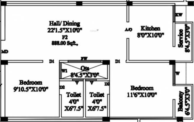 Sree Vetrivelavaa Sree Vetrivelavaa (2BHK+2T (888 sq ft) Apartment 888 sq ft)