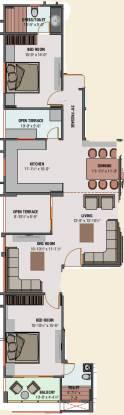 Unity 10 (2BHK+3T (1,091.57 sq ft) Apartment 1091.57 sq ft)