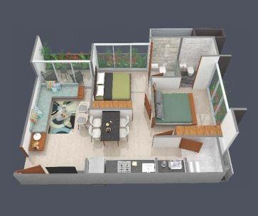 Trilok Shubhlaxmi Avenue (2BHK+2T (602.13 sq ft) Apartment 602.13 sq ft)