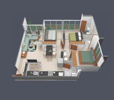 Trilok Shubhlaxmi Avenue (3BHK+3T (840.23 sq ft) Apartment 840.23 sq ft)
