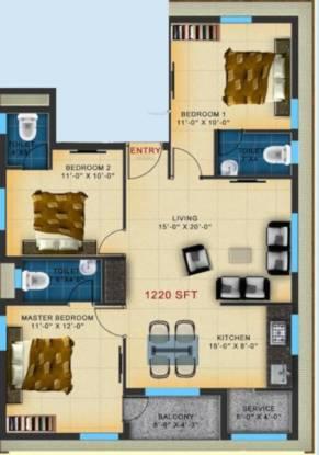 Annavalam Kayal (3BHK+3T (1,220 sq ft) Apartment 1220 sq ft)