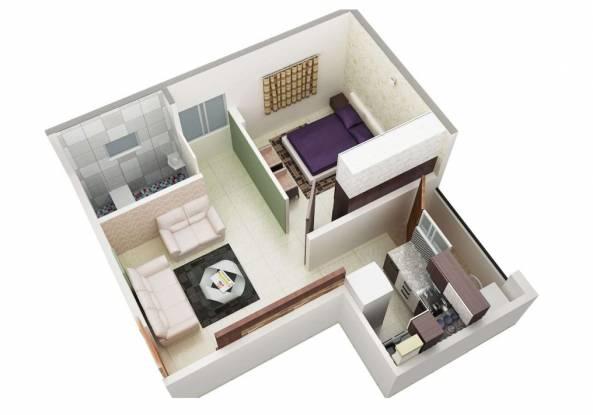 Kinglife Paradise (1BHK+1T (555 sq ft) Apartment 555 sq ft)