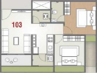 Viraj Vedant Skyline (2BHK+2T (528.51 sq ft) Apartment 528.51 sq ft)