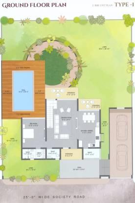 M M P Krisha Farms (3BHK+4T (1,314.27 sq ft) Villa 1314.27 sq ft)