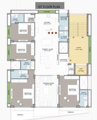 VR Origami (4BHK+4T (1,977.65 sq ft) Apartment 1977.65 sq ft)