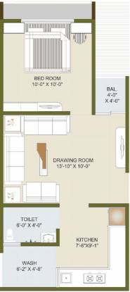 Dhruva Radhey Infinity (1BHK+1T (327.65 sq ft) Apartment 327.65 sq ft)