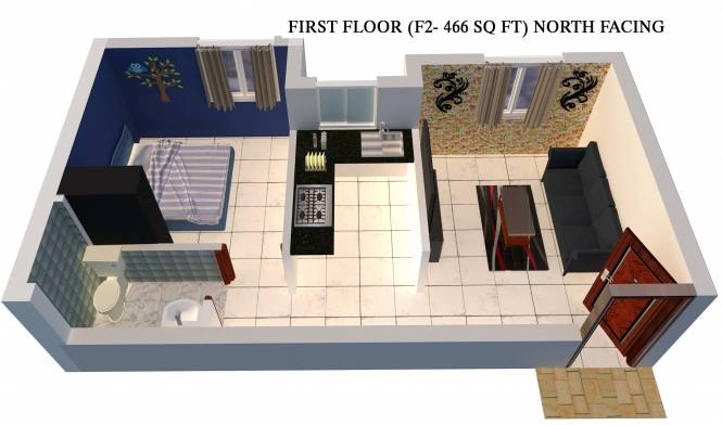 MP Niew (1BHK+1T (466 sq ft) Apartment 466 sq ft)
