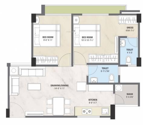 Keshar Samruddham (2BHK+2T (520.44 sq ft) Apartment 520.44 sq ft)