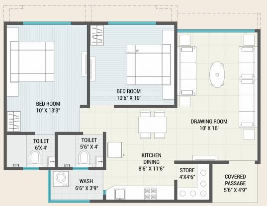 Shree Dutt Avalon (2BHK+2T (596.75 sq ft) Apartment 596.75 sq ft)