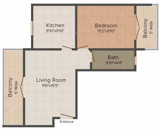 Micon Coastal Paradise (1BHK+1T (753 sq ft) Apartment 753 sq ft)