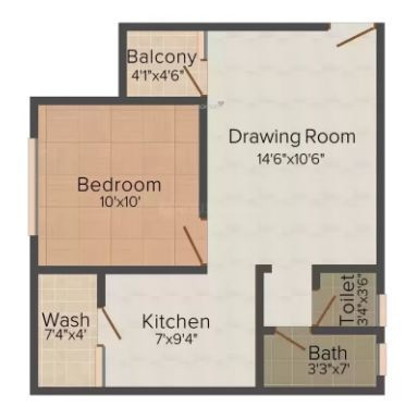Pardhan Ji Site 1 (1BHK+1T (450 sq ft) Apartment 450 sq ft)