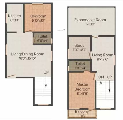 Steps Stone Sri Hari (2BHK+2T (1,333.00  sq ft) + Study Room Villa 1133 sq ft)