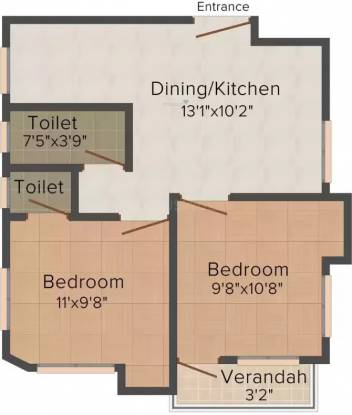 Lokenath 101 Sarsuna Main Road (2BHK+2T (810 sq ft) Apartment 810 sq ft)