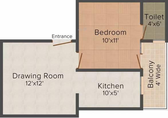 Arrow Pine Residency (1BHK+1T (545 sq ft) Apartment 545 sq ft)