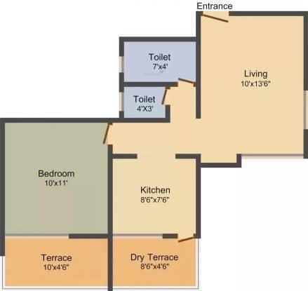 Cozy Homes (1BHK+1T (585 sq ft) Apartment 585 sq ft)