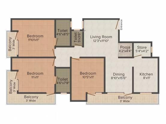 Piyush Floors B 46 Chhattarpur (3BHK+3T (1,305 sq ft) Apartment 1305 sq ft)