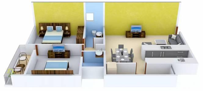 SLV Prinss (2BHK+2T (1,160 sq ft) Apartment 1160 sq ft)