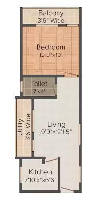 Bommarillu Homes (1BHK+1T (622 sq ft) Apartment 622 sq ft)