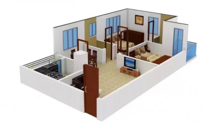 Bommarillu Homes (2BHK+2T (1,010 sq ft) Apartment 1010 sq ft)