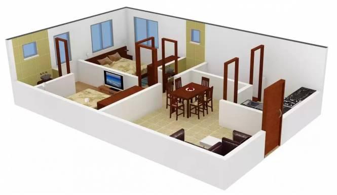 GM Residency (2BHK+2T (1,027 sq ft) Apartment 1027 sq ft)