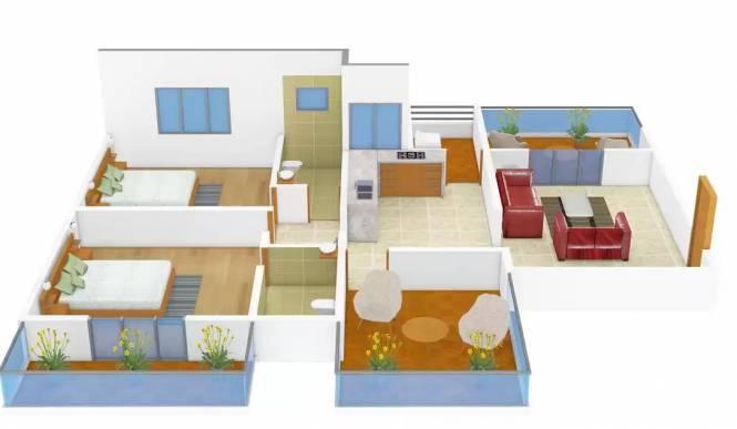 Navkar Orchid (2BHK+2T (1,266 sq ft) + Study Room Apartment 1266 sq ft)