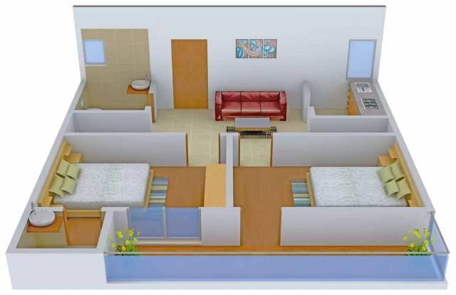 Sharma Homes 544 (2BHK+2T (650 sq ft) Apartment 650 sq ft)
