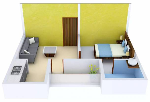 Radhey Krishna Apartment (1BHK+1T (510 sq ft) Apartment 510 sq ft)