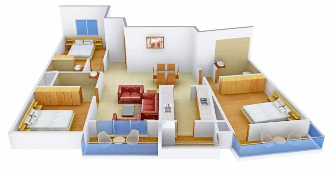 Sipani Classe I (3BHK+3T (1,472 sq ft) Apartment 1472 sq ft)