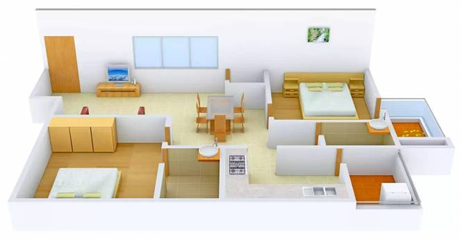 Coral Greens Imperia (2BHK+2T (1,275 sq ft) Apartment 1275 sq ft)
