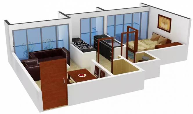 Neelkanth Residency (1BHK+1T (510 sq ft) Apartment 510 sq ft)