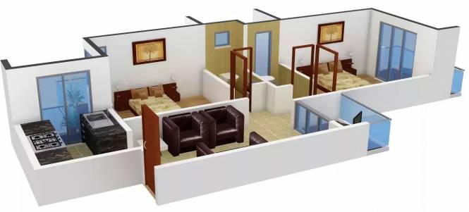 Neelkanth Residency (2BHK+2T (980 sq ft) Apartment 980 sq ft)