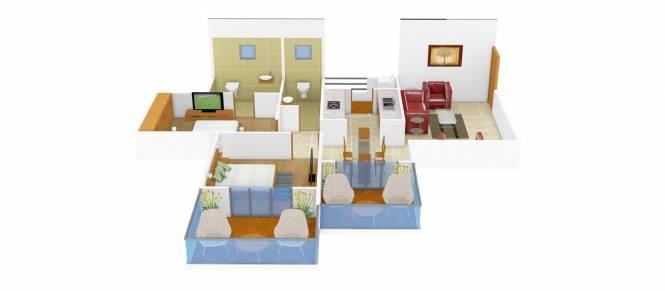 Kate Builders Puram Phase I (2BHK+2T (925 sq ft) Apartment 925 sq ft)