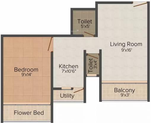 Purva The Pearl (1BHK+2T (480 sq ft) Apartment 480 sq ft)