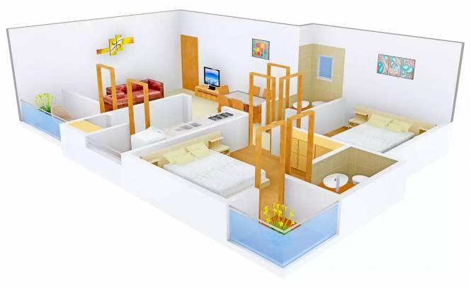 Shafalya Shlok Parisar (2BHK+2T (1,170 sq ft) Apartment 1170 sq ft)