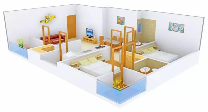 Shafalya Shlok Parisar (2BHK+2T (1,260 sq ft) Apartment 1260 sq ft)