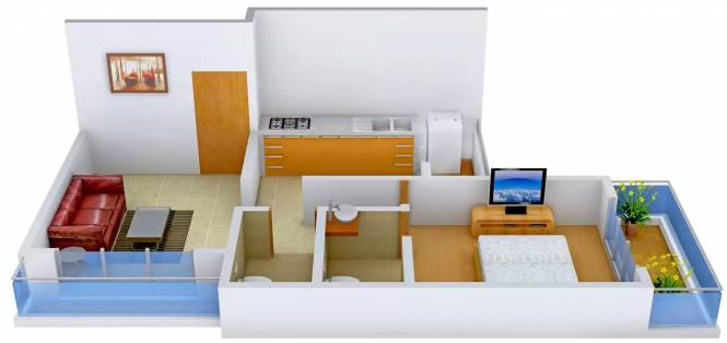 Omkar Shree Samarth Viscaria (1BHK+1T (701 sq ft) Apartment 701 sq ft)