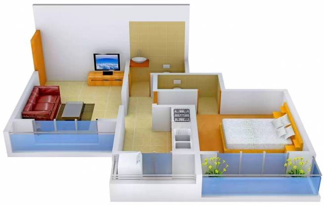 Omkar Shree Samarth Viscaria (1BHK+1T (720 sq ft) Apartment 720 sq ft)