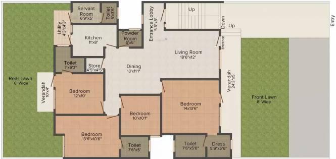Arora SW 52 Malibu Town (4BHK+4T (1,700 sq ft) Apartment 1700 sq ft)