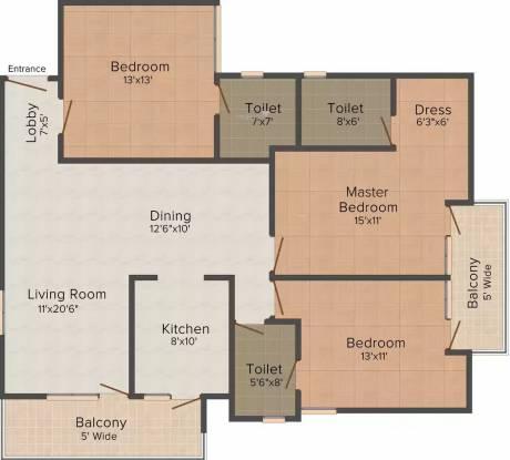 United 2760 Sec 46 (3BHK+3T (1,100 sq ft) Apartment 1100 sq ft)