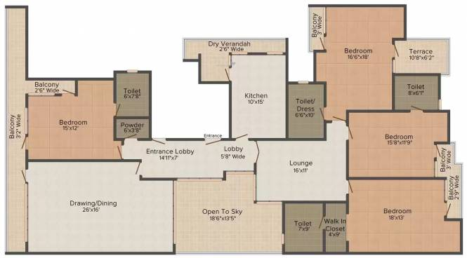 Cheque C 2 51 (4BHK+4T (4,500.0 sq ft) Apartment 4500 sq ft)