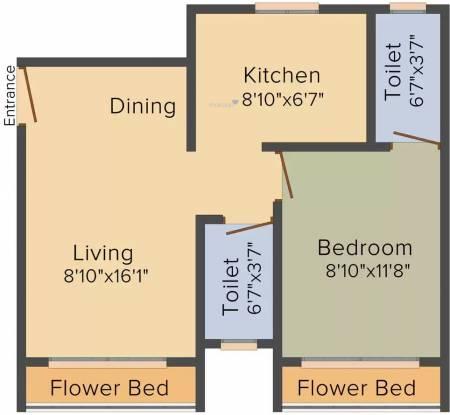 Malvani Highlife (1BHK+1T (550 sq ft) Apartment 550 sq ft)