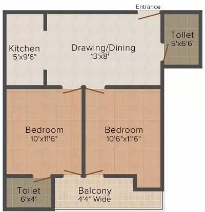 SLV Infrabuild Homes 3 (2BHK+2T (700 sq ft) Apartment 700 sq ft)