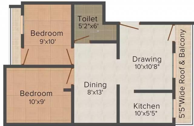 Ashoka Priyansh Anmol Residency (2BHK+2T (880 sq ft) Apartment 880 sq ft)