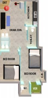 Surakha Residency 2 (2BHK+1T (481 sq ft) Apartment 481 sq ft)