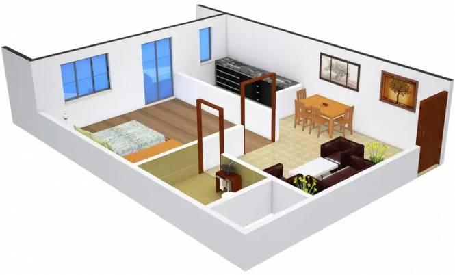 Shiv Shankar Home Emerald (1BHK+1T (536 sq ft) Apartment 536 sq ft)