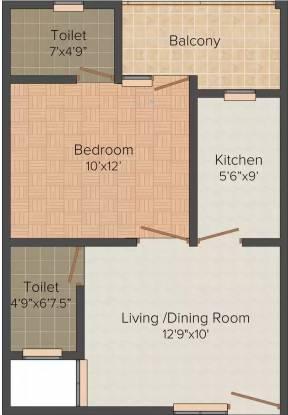 Shiv Shankar Home Emerald (1BHK+1T (560 sq ft) Apartment 560 sq ft)